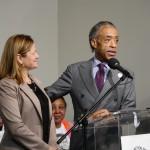 City Council Speaker Melissa Mark-Viverito and the Rev. Al Sharpton. 1/19/15