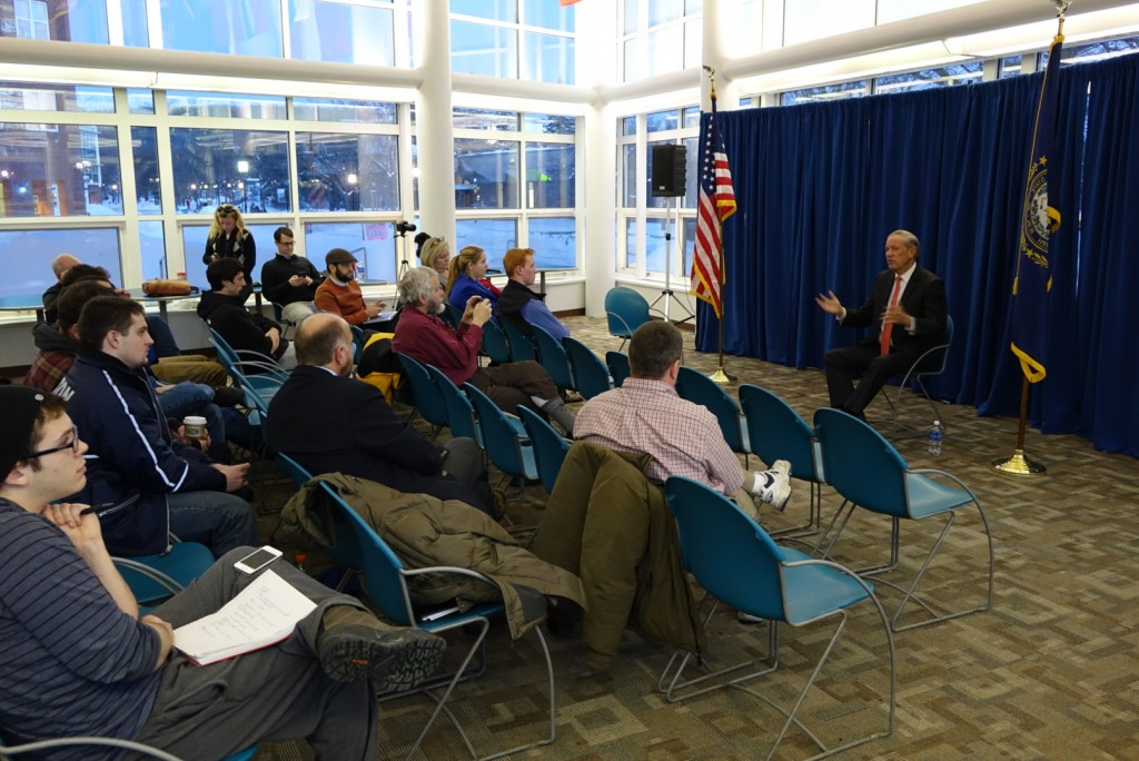 George Pataki at a town hall meeting on the campus of Keene State College.  2/3/15