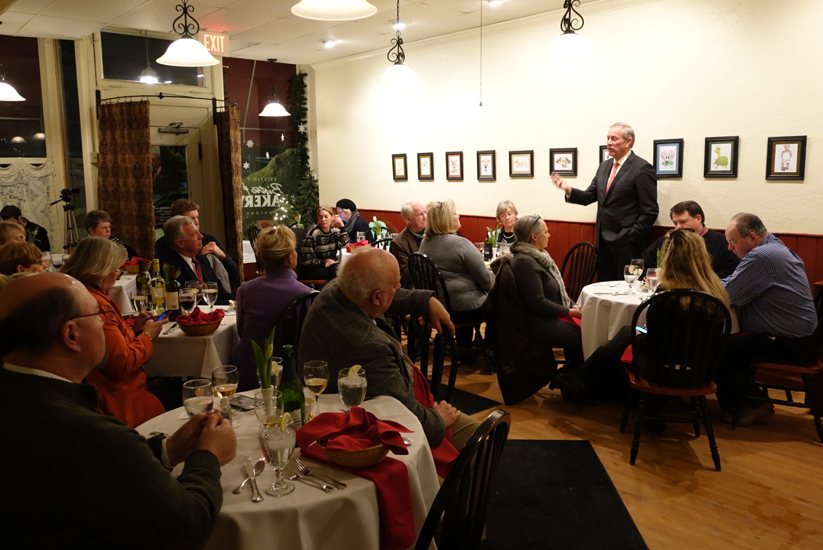 George Pataki speaks at a dinner hosted by the Chesire County Republican Committee in Keene, NH.  2/3/15