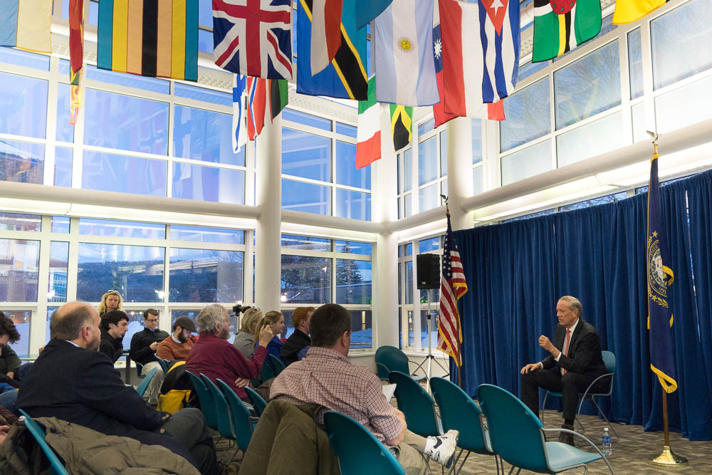 George Pataki speaking at a town hall meeting at Keene State College.  2/3/15