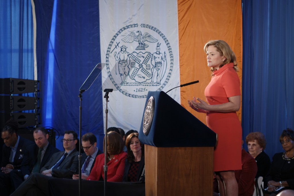 City Council Speaker Melissa Mark-Viverito during her State of The City address.  2/11/15