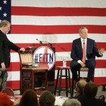 George Pataki onstage at the New Hampshire Republican Party Leadership Summit.  4/17/15