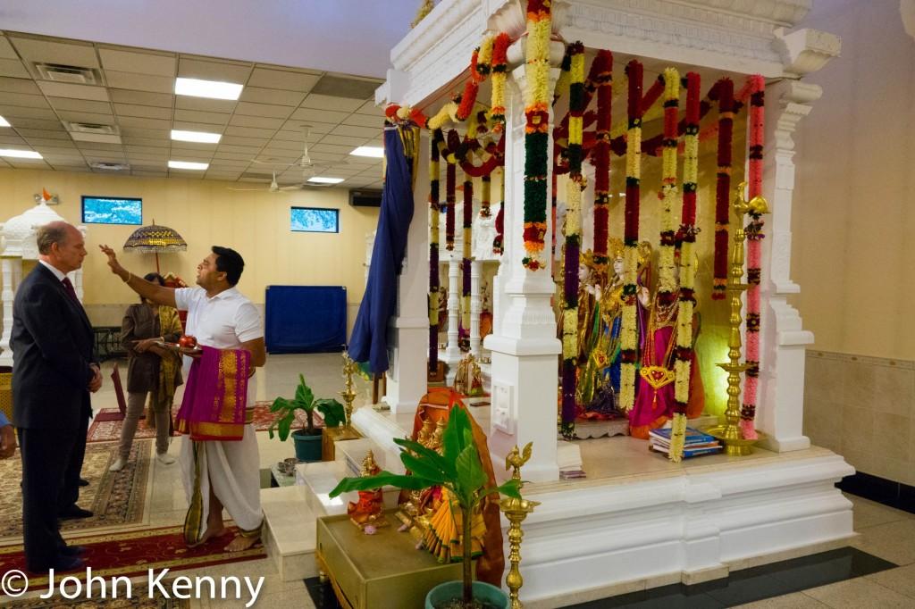 Donovan Hindu Temple - Blessing