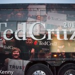 Cruz campaign bus (passenger door side) in Manchester, New Hampshire. 1/21/16
