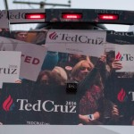 Cruz campaign bus (back) in Manchester, New Hampshire. 1/21/16