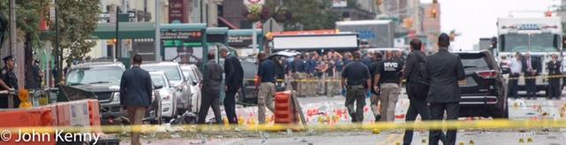 Cuomo & de Blasio At Chelsea Explosion Site 9-18-16