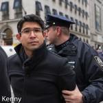 Council Member Carlos Menchaca under arrest on 5th Avenue.