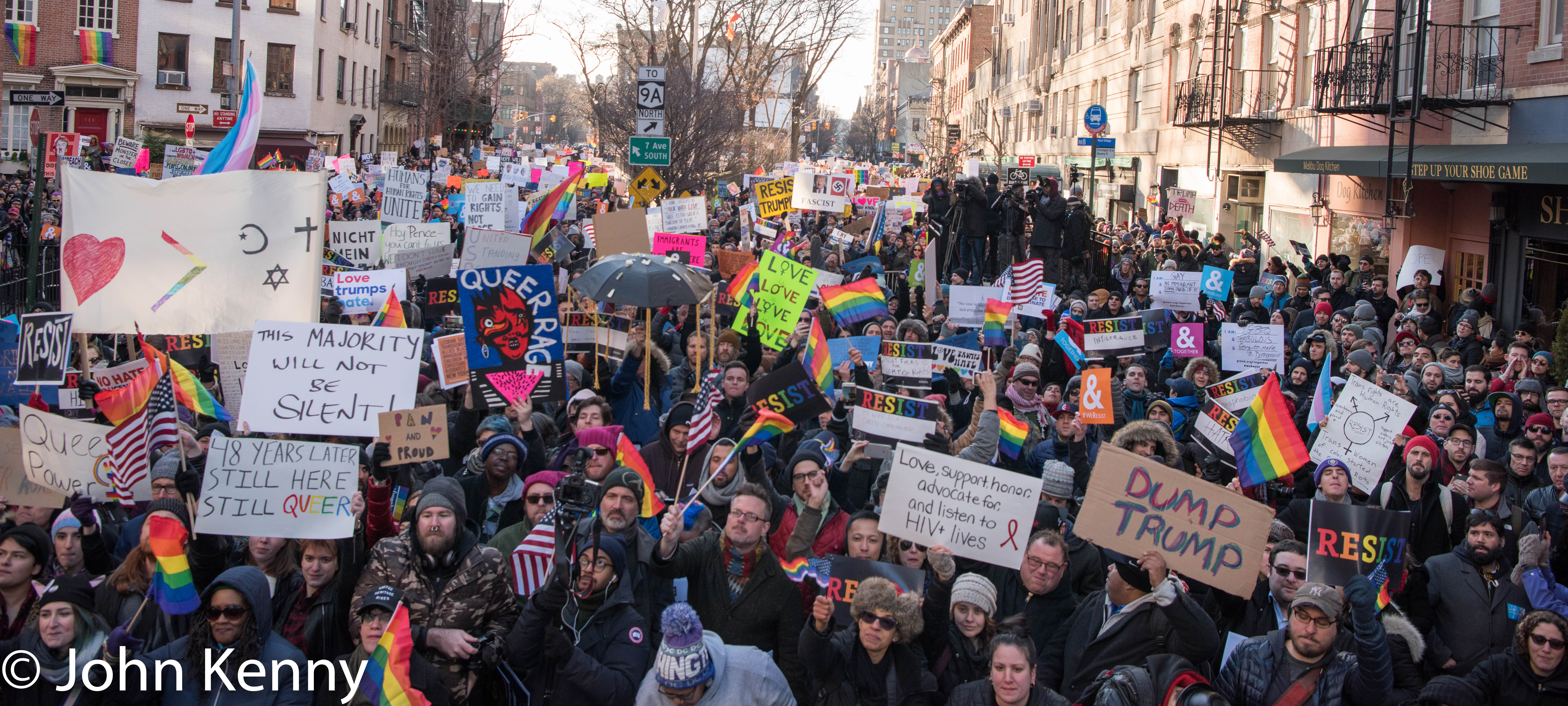 The view from the stage at Saturday's LGBT Solidarity Rally.