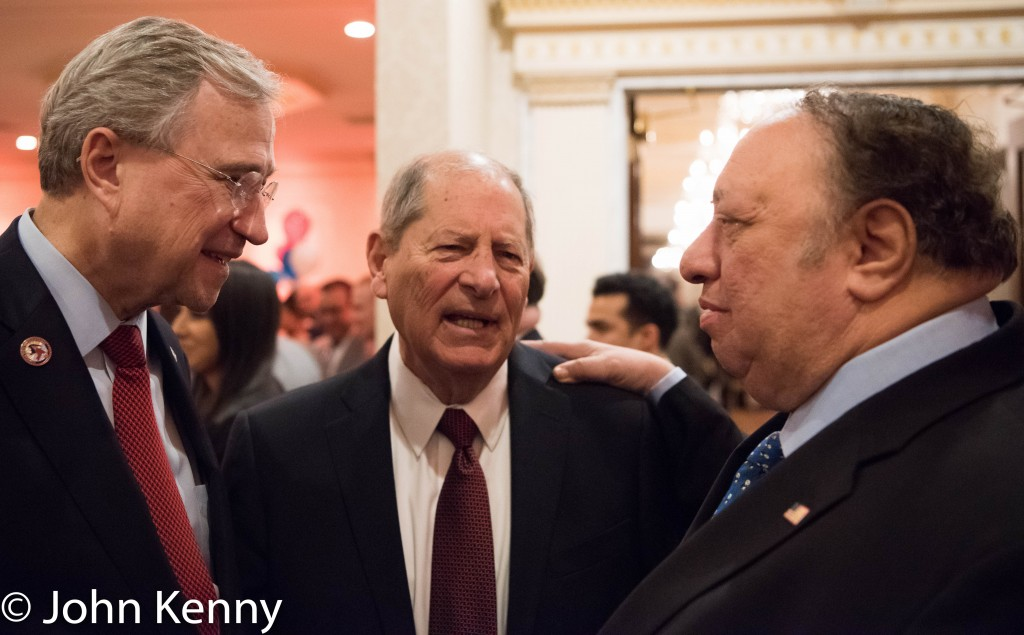 NYS GOP Chairman Ed Cox, Queens GOP Chairman Bob Turner and John Catsimatidis at the Bronx GOP dinner. 3/8/17