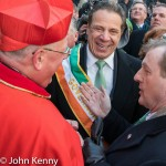 Cardinal Dolan and Gov. Cuomo laugh as Irish Taoiseach Enda Kenny speaks.  3/17/17